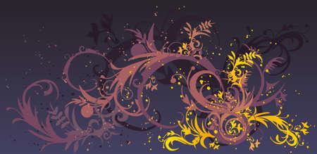 Lilac swirls Stock Vector - 3122732