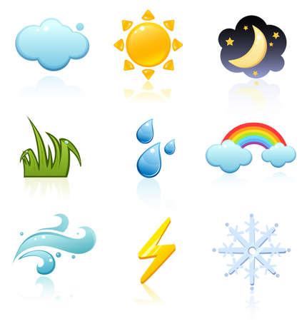 Weather icon set Stock Vector - 3255748