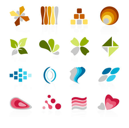 logo icons: Abstract logo icons Illustration
