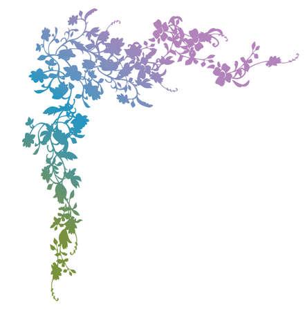 esquineros florales: Floral esquina  Vectores