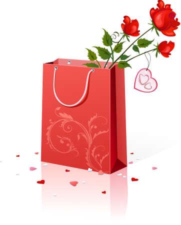 shopping bag vector: ly present