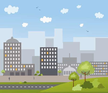 Urban town Vector