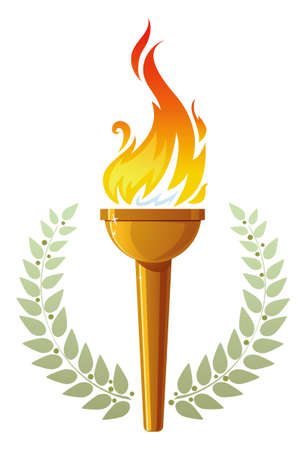 olympic symbol: Flaming torch Illustration