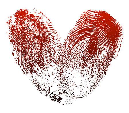 Heart fingerprints Stock Vector - 3358310