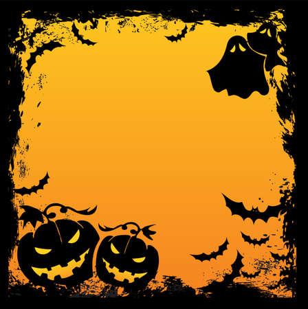 smilling: Halloween background