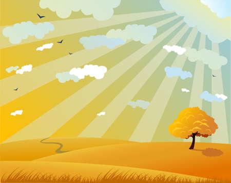 Fall landscape Stock Vector - 3511439