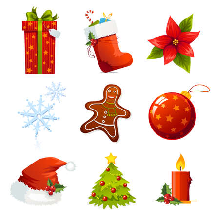 Christmas icons Stock Vector - 3725982