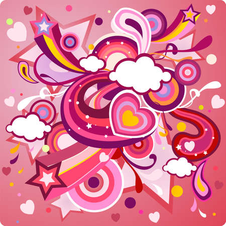 St, Valentines Day background Vector
