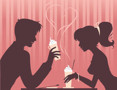 image date: Couple drinking coffee