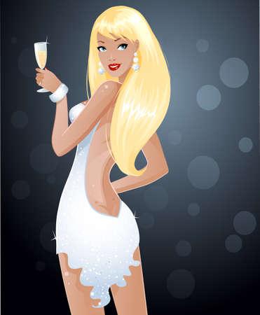 섹시한 금발의 여자