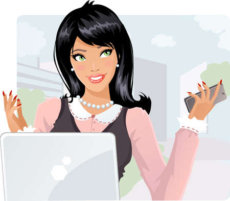 Business lady Illustration