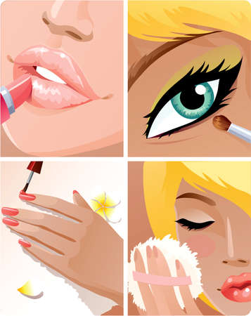 Beauty set Stock Vector - 4579051