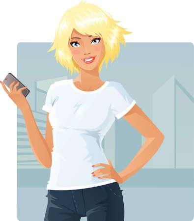 T-shirt model Stock Illustratie
