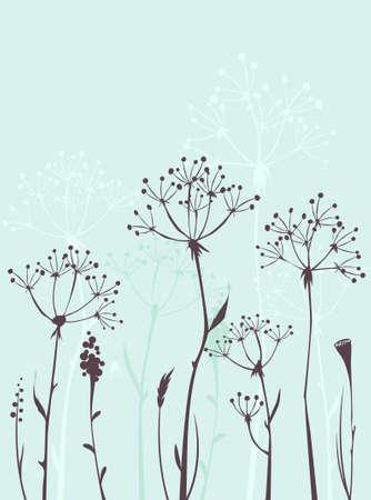 Wild gras Stock Illustratie