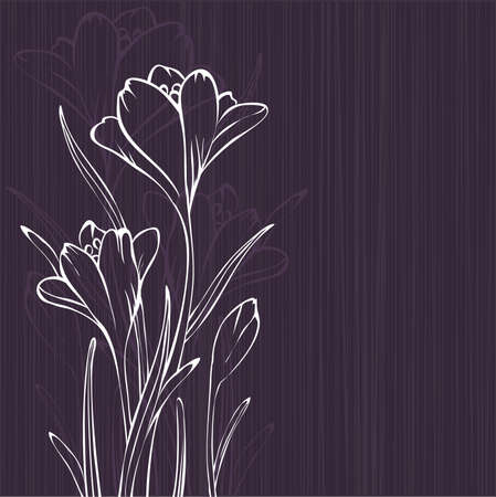 crocus: Lilac design with crocus silhouettes