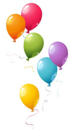 Kleurrijke ballonnen  Stock Illustratie