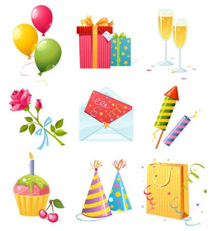 Birthday icons Stock Vector - 5126248