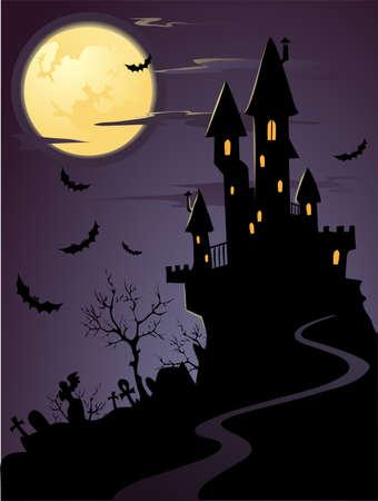gruselig: Spooky Halloween-Nacht Illustration