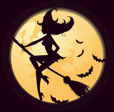 Witch silhouette Illustration