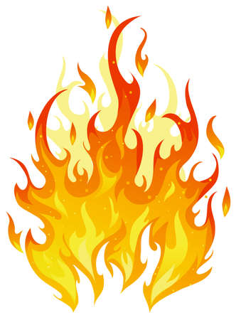 Fire on white Stock Vector - 5507952