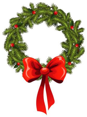 Kerst krans Stock Illustratie