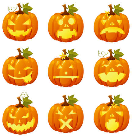 Pumpkin icons Vector