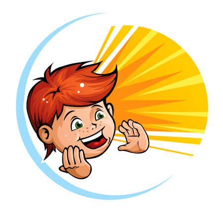 Shouting kid Stock Vector - 6498886