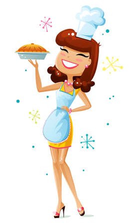 wives: Happy housewife Illustration