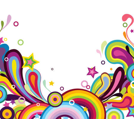 rainbow color star: Colorful background Illustration