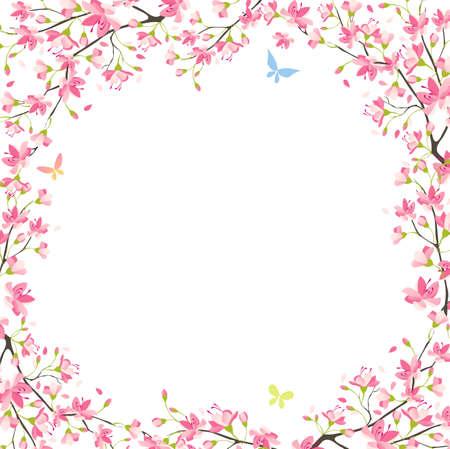flor de sakura: Sakura de primavera Vectores