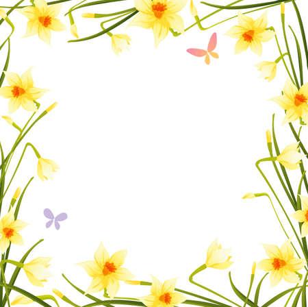 daffodils: Spring daffodils Illustration