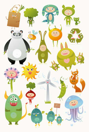 Cute monsters Illustration