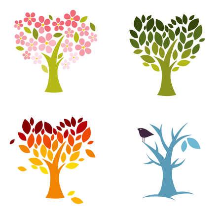 Seasons of love  Stock Illustratie