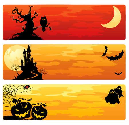 creepy: Halloween banners