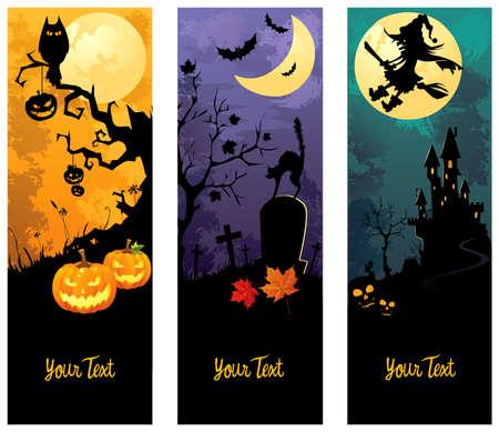 Halloween Banner set  Standard-Bild - 7776417