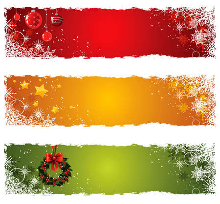 Kerst mis banners