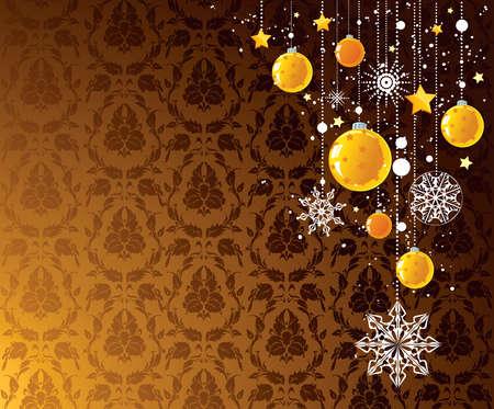 Golden Xmas design Stock Vector - 8059042
