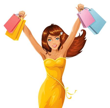 Happy shopper Stock Vector - 9648678