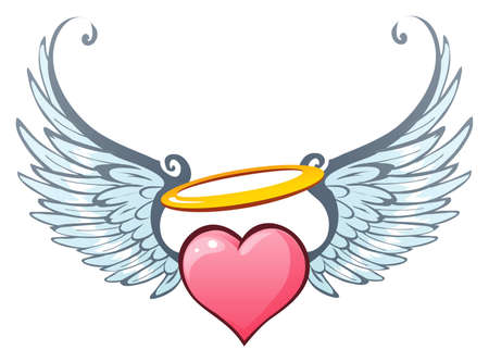 heart and wings: Angelic love Illustration