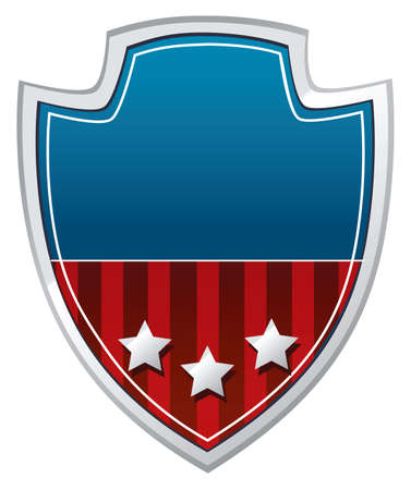 patriotic shield Stock Vector - 10689440