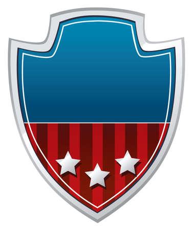 Patriotischen Schild Standard-Bild - 10689440