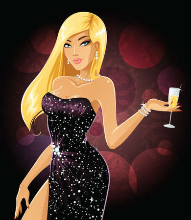 Champagne blonde Vector