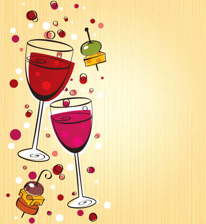 aperitif: Wine background