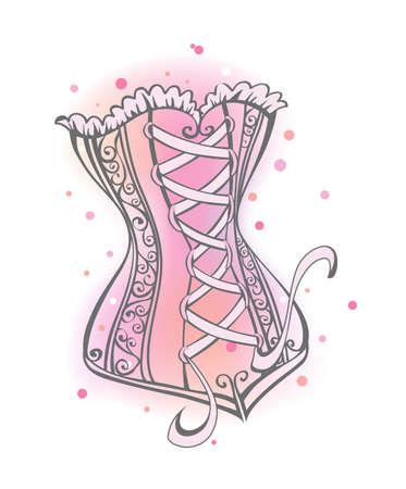 corsetto: Lady corsetto Vettoriali