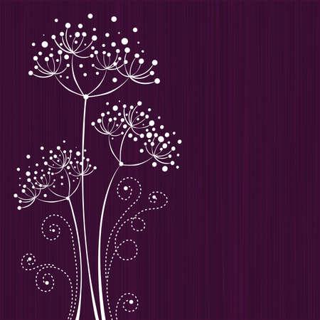 Lila bloemdessin