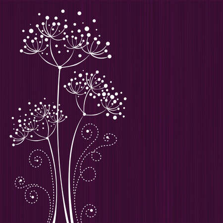 Lilac floral design Illustration