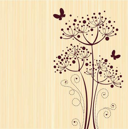 Ivoor bloemdessin Stock Illustratie