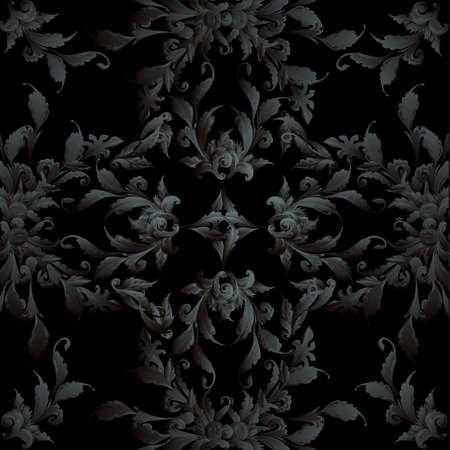 depressive: Black floral design