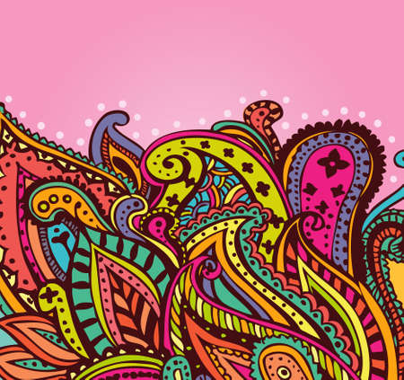Paisley pink background Vector
