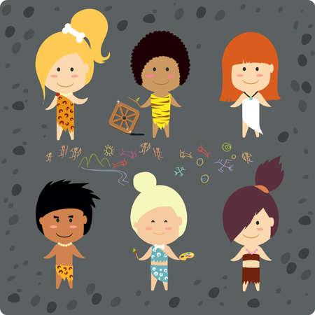 Cave people Illustration